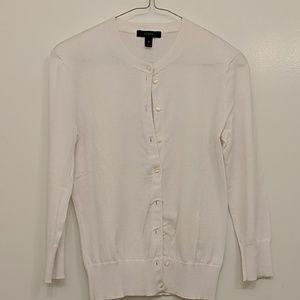 JCrew Tippi button cardigan, size XS, white
